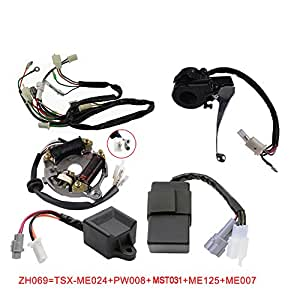amazon com flypig wiring harness wire loom ignition switch cdi unit rh amazon com 2001 yamaha warrior stator wiring diagram yamaha blaster stator wiring