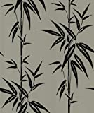 Brewster 414-46909 Asuka Pewter Bamboo Wallpaper