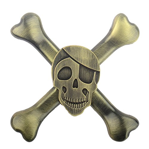 Uspeedy Skeleton Fidget Spinner Fidget Killing Time Toys for For ADD, ADHD, Anxiety, and Autism Adult and Children (9 2 Bronze)