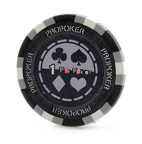 Poker Clay Pro Poker (Versa Games 25 Piece Pro Poker Clay Poker Chips - 9 Colors (Gray))