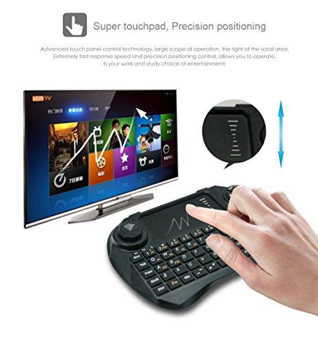 - Viboton Wireless Mini Keyboard with Touchpad, Qwerty Keypad, Rechargeable (Black, X3-Li)