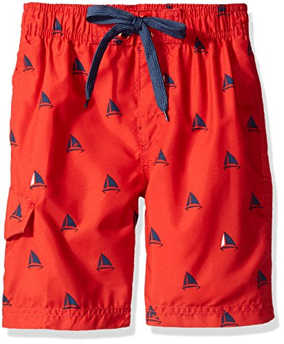 Kanu Surf Little Boys' Regatta Sailboat Swim Trunk, Red, Medium (5/6) ()