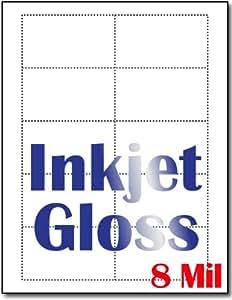 Amazon 8 Mil Inkjet Gloss Business Cards 100