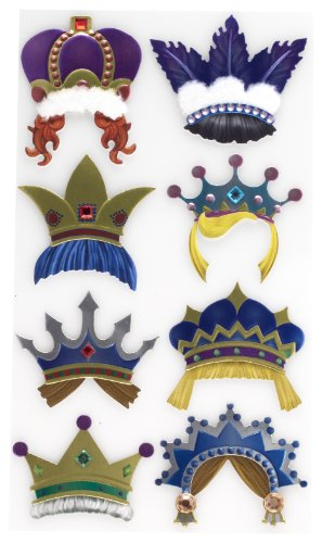 (EK Success Brands Jolee's Boutique Decorative Stickers, Fun Crowns Dress)
