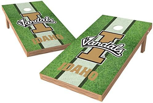 Wild Sports NCAA College Idaho Vandals 2' x 4' Field Authentic Cornhole Game Set [並行輸入品]