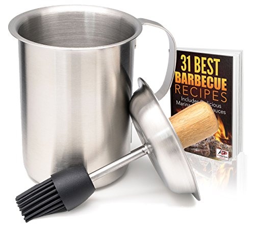 a1pp-marinade-sauce-pot-w-silicone-basting-brush-tailgating-grill-basters-bonus-bbq-recipes-ebook-st