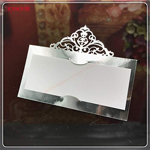 Wedding Card - Wedding Gift Card - 3d Wedding Card- Pcs Laser Cut Elegant Crown Name Place Seat Paper Wedding Invitation Table Cards For Party Table Decoration Marriage. ()
