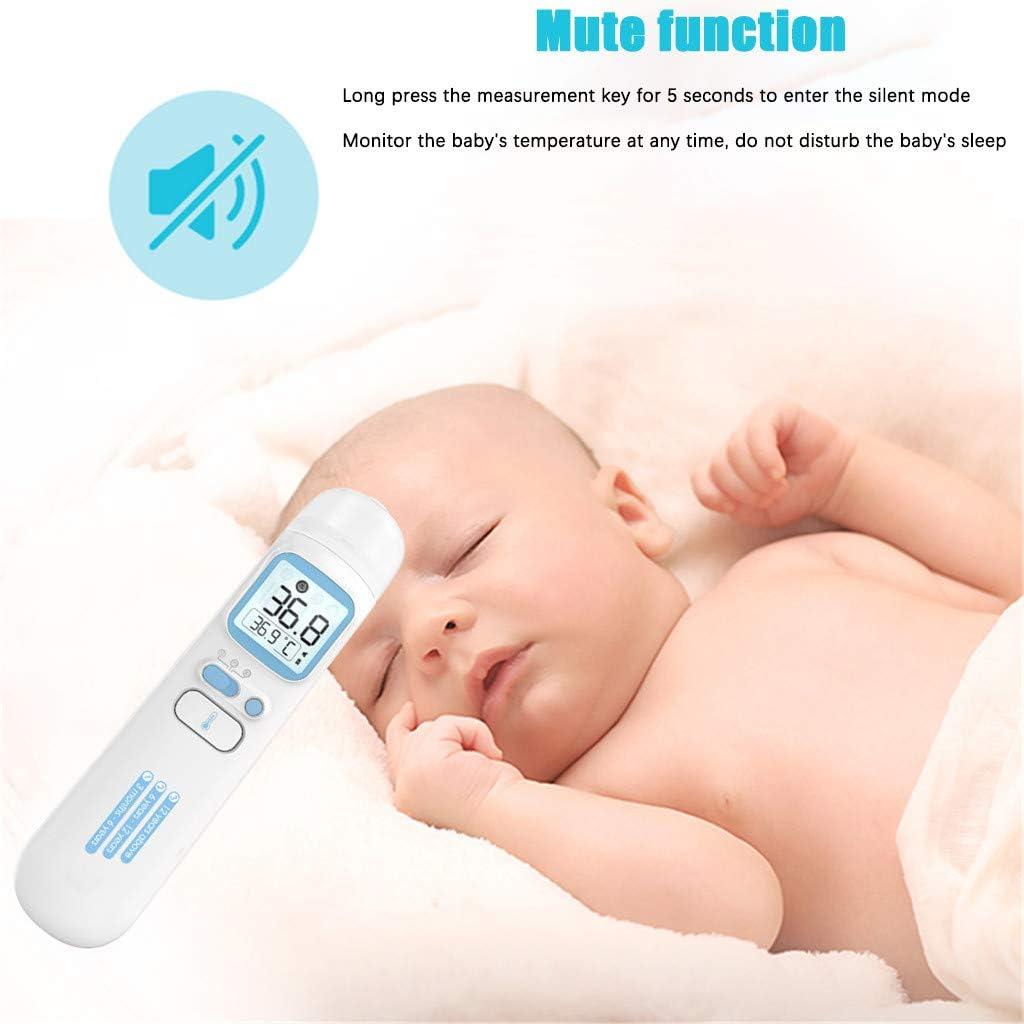 Dreifarbiger Fieberalarm Kind eiuEQIU Infrarot Ber/ührungsloses Infrarot-Messung Medizinisches Stirn und Ohr Instrument Digitales Infrarot 4 in 1 Multifunktion Ideal F/ür Baby Erwachsene