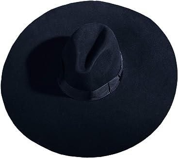 ByTheR Unisex Modern Chic Classic Style Floppy Wide Brim Fedora Hat. ByTheR  Men s Mesh Layerd String Detail Dark ... 1c3d77d9ee3c
