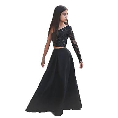 cd8113ad1 Amazon.com  Diandiai A-line Flower Girl Dresses One-Shoulder Two ...