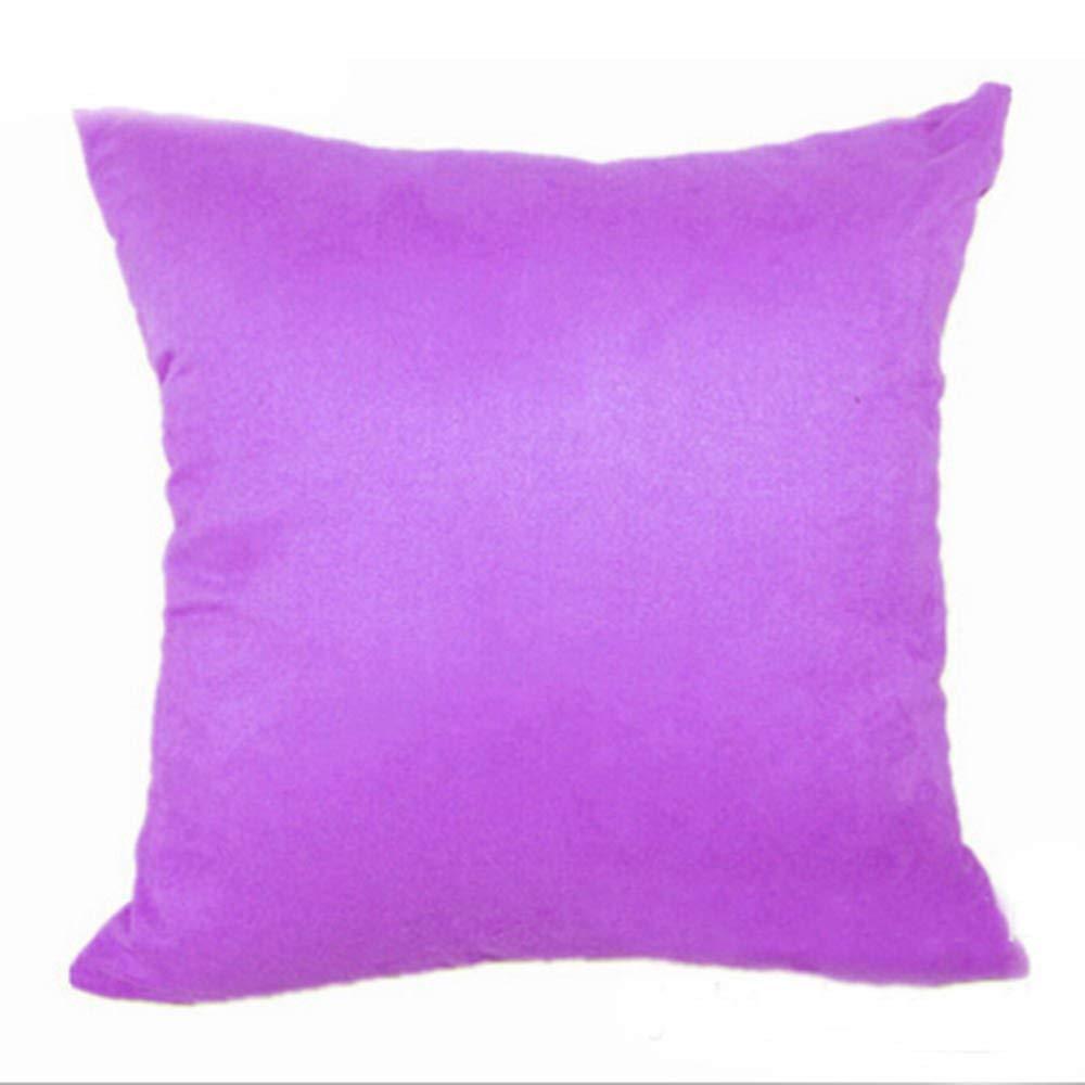 zengjiansm Fundas para Almohada Plain Suede Pillow Covers ...