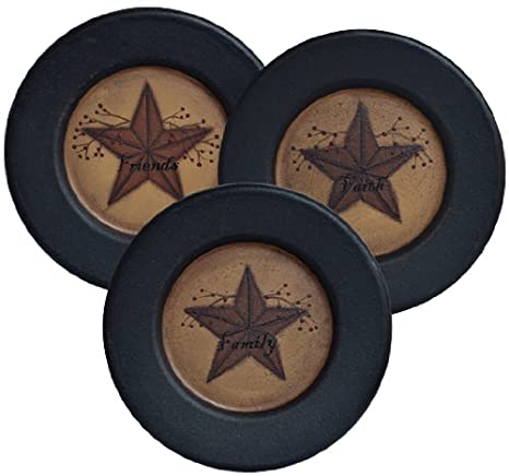 Amazon.com | Plate & Stand Set - Faith Family Friends Star Berry ...