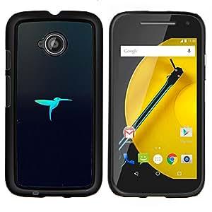 LECELL--Funda protectora / Cubierta / Piel For Motorola Moto E2 E2nd Gen -- Pájaro Laser --