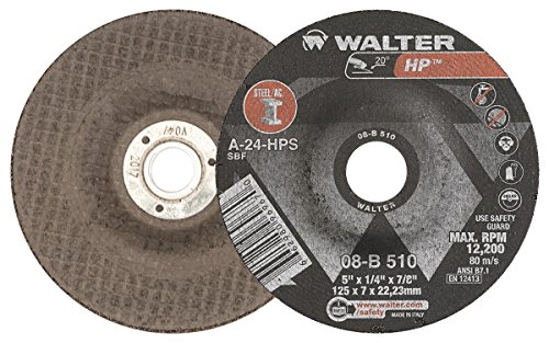 - Walter HP Grinding Wheel, Type 27, Round Hole, Aluminum Oxide, 5