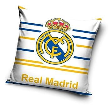 Funda para cojín 100% algodón decorativo del FC Real Madrid ...