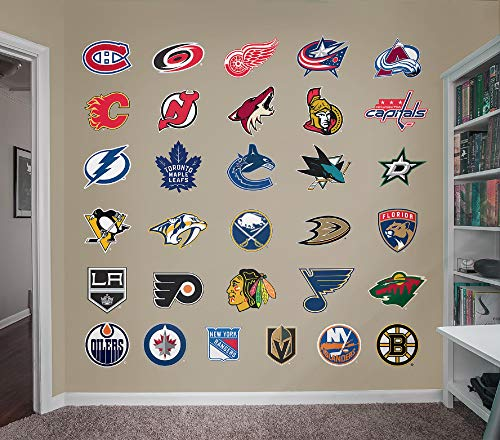 FATHEAD NHL - Logo Collection- Officially Licensed Removable Wall Decal, Multicolor, Giant