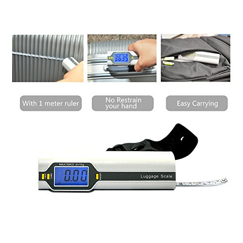 Bien Venida Digital Hanging Luggage Weight Scale with Measure1 Pack CH-150/100LB Capacity by Bien Venida (Image #1)