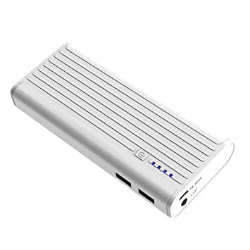 BONAI Power Bank 10000mAh, Bateria Externa para Movil Cargador Portatil, Salida Doble Puerto USB 2A - Blanco
