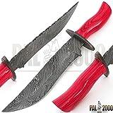 (US) 9059 Custom Handmade Damascus Steel knife Guaranteed Quality Damascus Bowie knife with top quality leather sheath