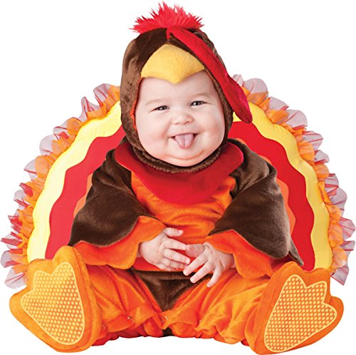 Little Turkey Baby Costume (Lil Gobbler Baby Infant Costume - Infant Large)