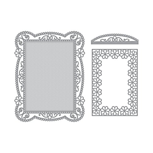 - Spellbinders Shapeabilities Tallulah Frill Layering Frame Small Chantilly Paper Lace Etched/Wafer Thin Dies