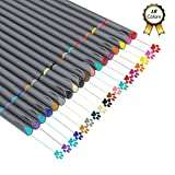 Huhuhero Fineliner Color Pen Set 18pc Porous Fine Point Markers