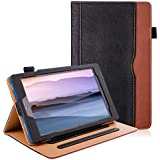 Azzsy Flre 7 Tablet Case (7th Generation, 2017 Release) - [Corner Protection] Stand Folio Cover Protective Case with Auto Wake/Sleep,Also Compatible with Flre 7 (5th Gen, 2015),Black