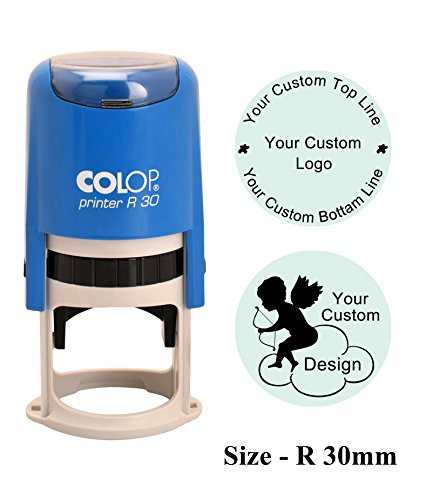 COLOP R30 Self Inking Round Custom Rubber Stamp With Personalized Logo Stamp -