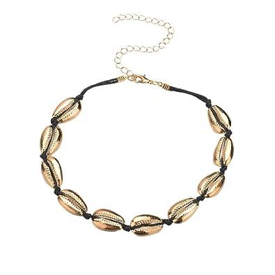 760c5ee84980b BaZhaHei Handmade Shell Necklace Women's Cowrie Beach Necklace ...