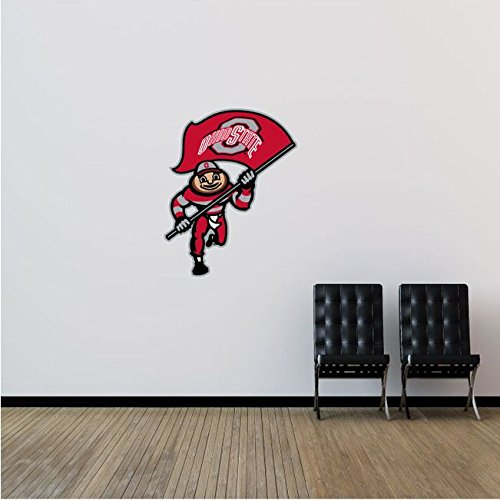 Ohio State Buckeyes NCAA USA Flag Logo College Sport Art Wall Decor Sticker 20'' x 25''