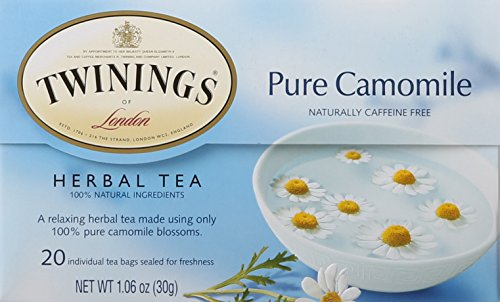 Twinings of London Pure Camomile Herbal Tea Bags, 20 Count