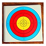 20Pcs Archery Semicircular Target Paper Arrow Targets Shooting Accessories, 16x16inch, Ideal for Match and Daily Practice Use Outdoor Shooting Practice Targets