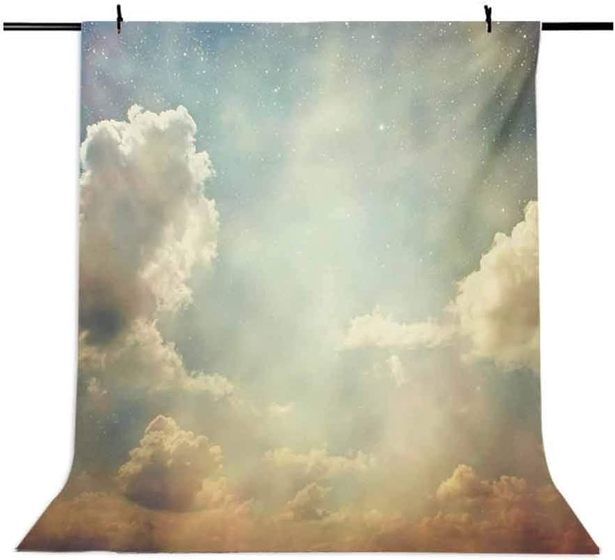 Vintage 6.5x10 FT Photo Backdrops,Magical Sky Looks Like Dream Space with Sun Rays Celestial Miracle Atmosphere Photo Background for Baby Birthday Party Wedding Vinyl Studio Props Photography