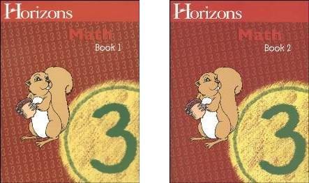 Horizons Math 3 SET of 2 Student Workbooks 3-1 and 3-2 by Horizons