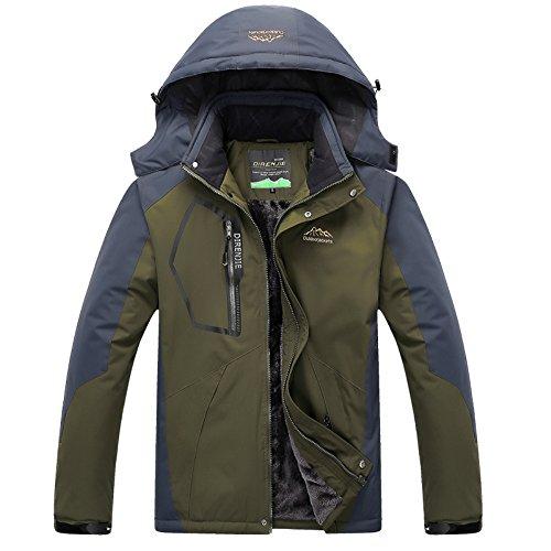 [Yovayosa Men's Waterproof Mountain Hardwear Down Jacket Fleece Windproof Ski Jacket] (Snow Motorcycle Jackets)