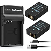 OAproda 2 Pack EN-EL20 Battery and Micro USB Charger for Nikon EN-EL20a, Nikon 1 J1, Nikon 1 J2, Nikon 1 J3, Nikon 1 S1, Nikon 1 V3, Nikon Coolpix A, Nikon 1 AW1 and Blackmagic Pocket Cinema Camera