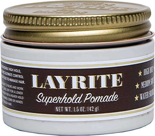 - Layrite Superhold Pomade, 1.5 oz.