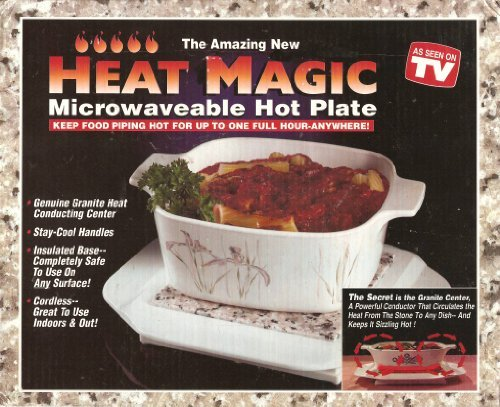(Heat Magic - Microwaveable Hot Plate: Keep Food Piping Hot for Up to One Full Hour - Anywhere!)