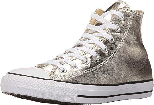 Converse Chuck Taylor All Star Hi Metallic Sneaker (Mens 10/Womens 12, Gold) (Converse Chuck Taylor All Star Hi Metallic Sneaker)