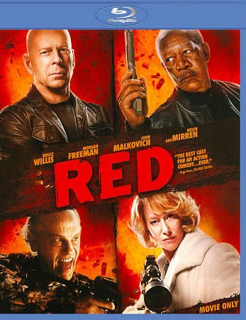 RED Blu-ray Disc Movie (Bruce Willis, Morgan Freeman, John Malkovich and Helen Mirren)