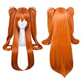 Xingwang Queen Anime Long Orange Cosplay Wig Clip On Double Ponytails Women Girls' Party Wigs