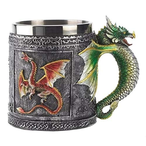 (3d Goblet Dragon Mug Stainless Thrones Steel Of Cup Game Cup Whisky Wine Design Coffee Halloween Unicorn Beer Creative)