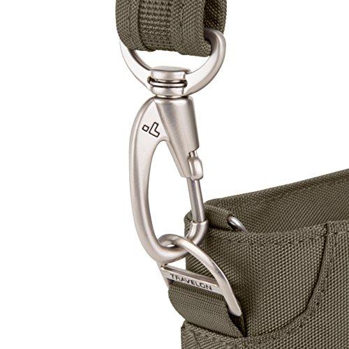 Travelon Women's Anti-theft Classic Mini Shoulder Bag Sling Tote, Nutmeg by Travelon (Image #5)