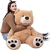 MorisMos Giant Teddy Bear Big Footprints Plush Stuffed Animals Light Brown 39 inches