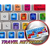 NEW SABRE TRAVEL NETWORK STICKERS FOR KEYBOARD FOR DESKTOP, LAPTOP AND NOTEBOOK