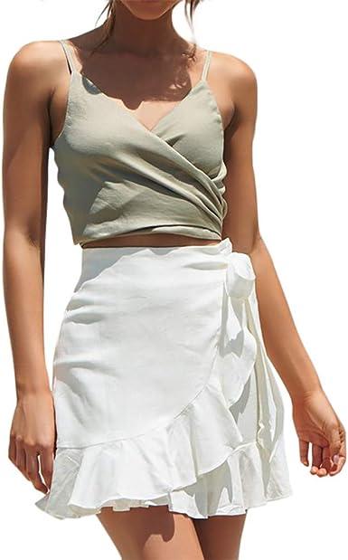 FELZ Falda Mujer Corta Falda Mujer Verano Las Mujeres de Moda de ...