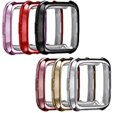 Set of 6 for Fitbit Versa Case, Replacement Protective Case Accessories Scratch-resistant Soft TPU Shock Resistant Frame Shell Plating for Fitbit Versa Smartwatch ONLY