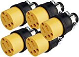 Black Duck Brand Female Extension Cord Replacement Electrical Plugs End (5 Pieces)