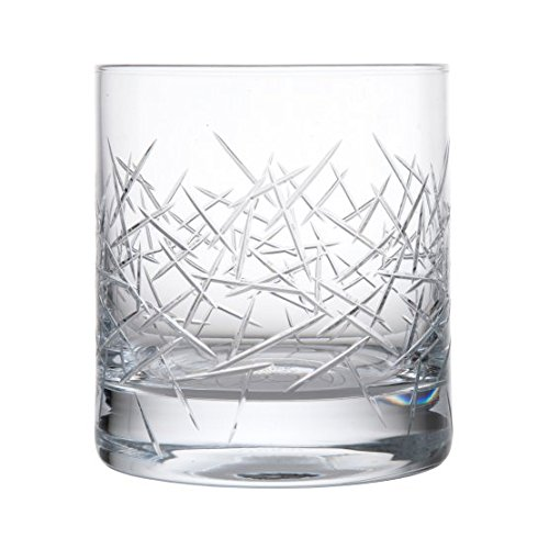 Schott Zwiesel Tritan Crystal Glass Distil Barware Collection Grey Skye Double Old Fashioned (DOF) Cocktail Glasses (Set of 6), 13.5 oz, Clear - Crystal Cut Glass Collection