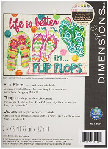 Dimensions Flip Flops Counted Cross Stitch Kit, 70-65152
